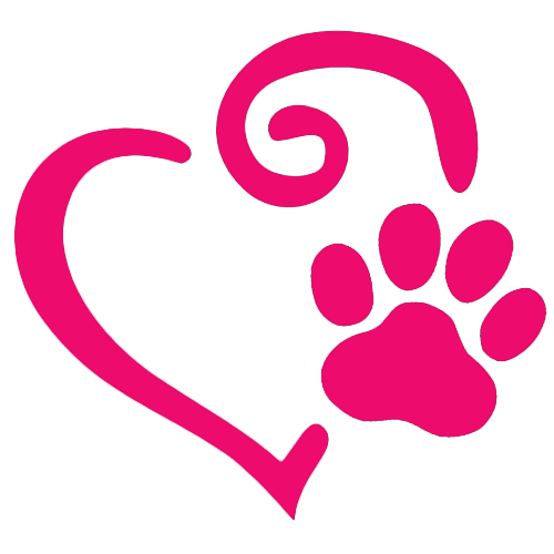 Heart and dog paw print decal all about flip flops