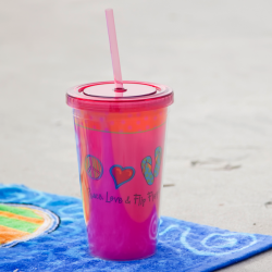 Peace Love and Flip Flops Tumbler - 16 oz.