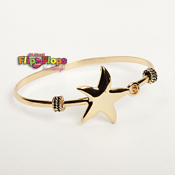 Starfish Bangle Goldtone