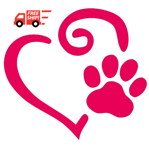 Heart and Dog Paw Print Decal - All About Flip Flops