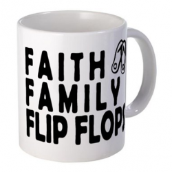 Faith Family Flip Flops Coffee Mug