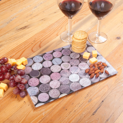 Wine Corks Glass Cutting Board Lifestyle