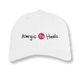 Allergic to Heels Embroidered Baseball Hat