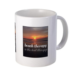 Beach Therapy is the Best Therapy Coffee Mug