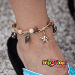 Beaded Sea Shell and Starfish Anklet