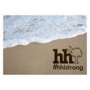 HHI Strong Sand and Surf Glass Cutting Board