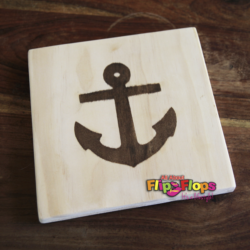 Anchor Solid Wood Cutting Board and Trivet