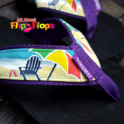 Beach Chair and Umbrella Flip Flops by Tidewater