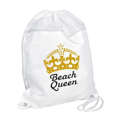 Beach Queen Drawstring Backpack