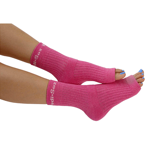 Luxury Pink Open Toe Pedi Socks