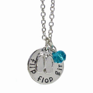 Flip Flop Girl Necklace