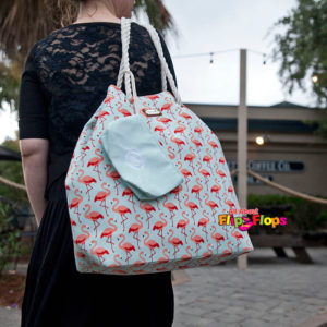 Flamingo Gap Tote Bag Blue