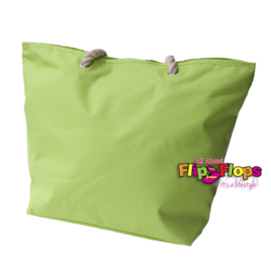 Flip Flop Beach Tote Lime-Green