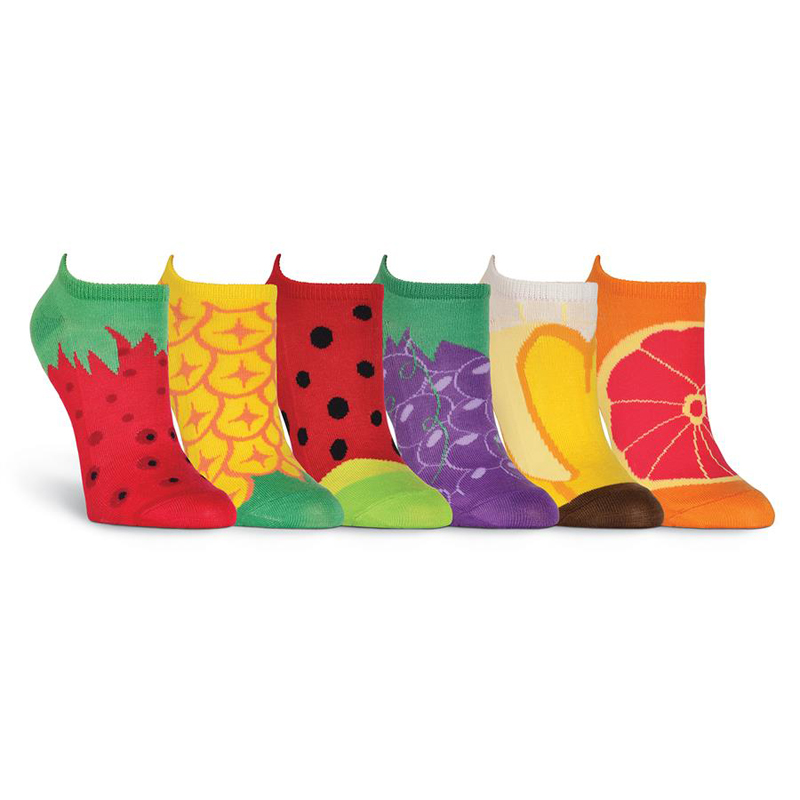 Fruit No Show Socks - Six Pack