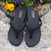 Glitter Flip Flops by Yellow Box - Black