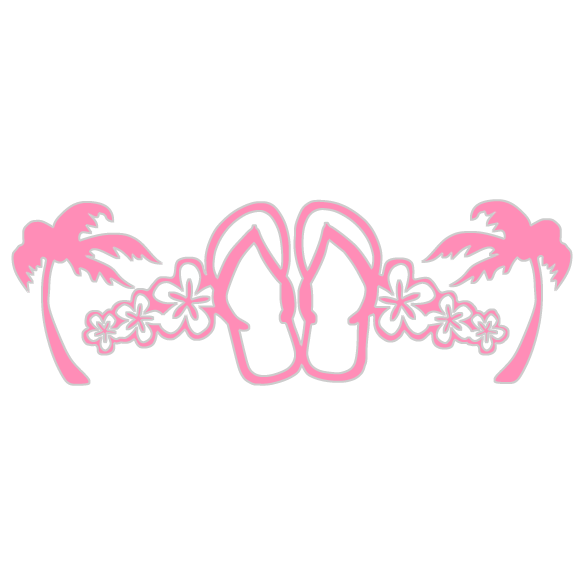 Flip Flops and Palms Decal