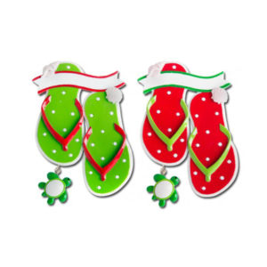 Seashell & Turtle Flip Flops Ornament