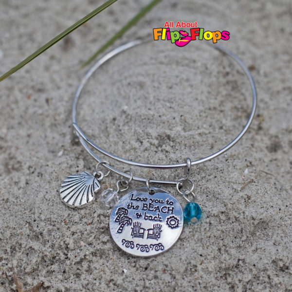 Love You to the Beach and Back Expandable Charm Bracelet