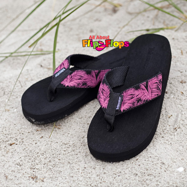 Pink Palm Flip Flops by Tidewater