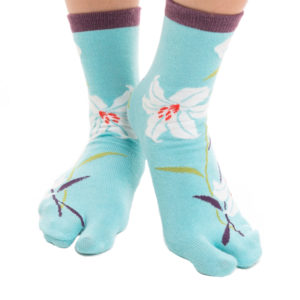 Blue Hawaiian V-Toe Flip Flop Socks