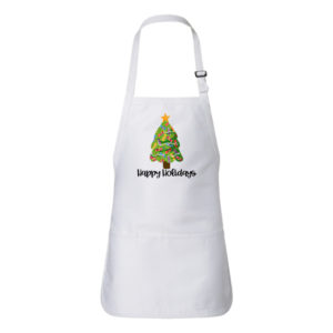 Flip Flops Christmas Tree Happy Holidays Apron