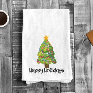 Flip Flops Christmas Tree Happy Holidays Kitchen Towel