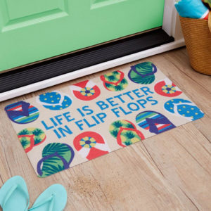 Life Is Better In Flip Flops Accent Doormat