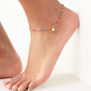 Boho Scallop Shell Stretch Anklet