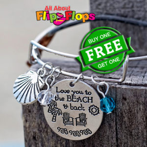Love You to the Beach and Back Expandable Charm Bracelet BOGO
