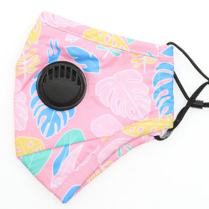 Tropical Leaves Cotton Respirator Mask - Pink