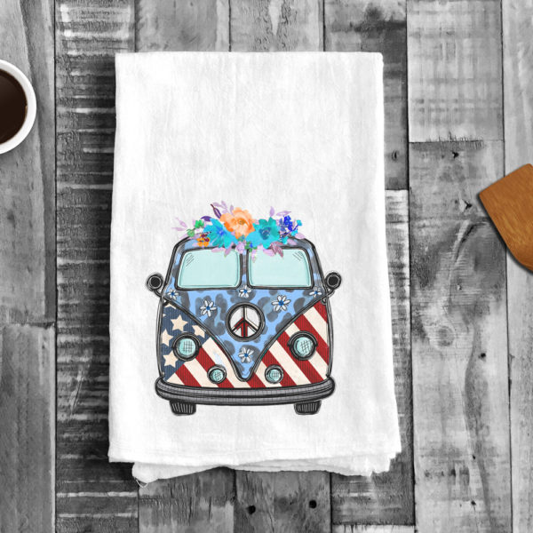 Micro Bus Stars and Strips Kitchen Towel