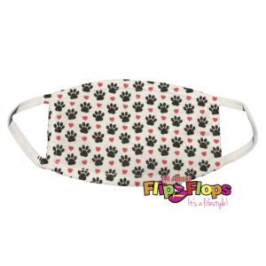 Dog Paw and Red Heart Cotton Mask